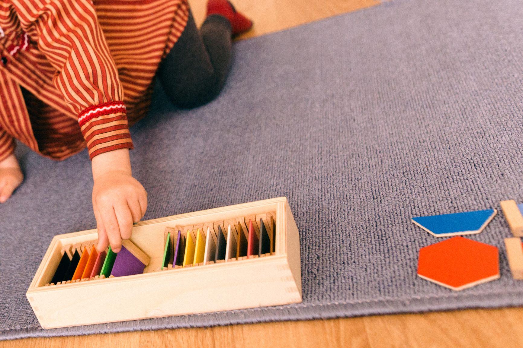 material montessori para la educacion de los sentidos