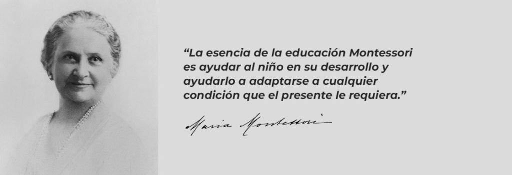 Frase de María Montessori