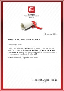 Montessori Elementary Course Certificate