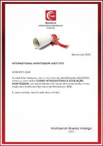 certificado montessori