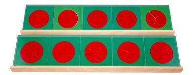 set de fracciones metálicas montessori