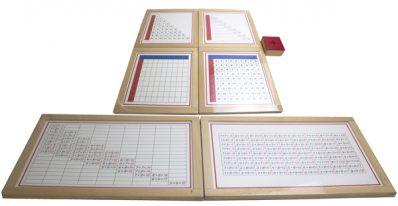 tablas de la suma para matemáticas montessori