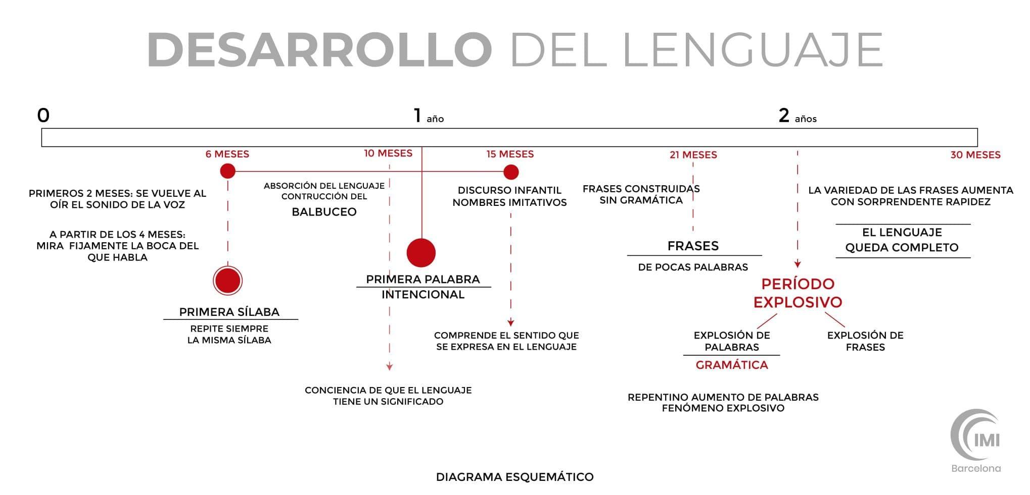Diagrama del desarrollo del lenguaje