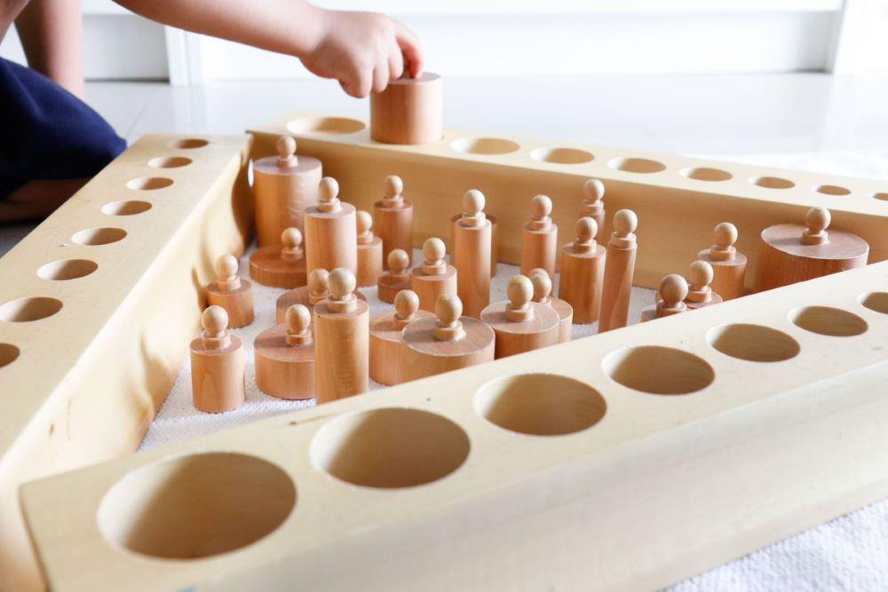 cilindros material montessori